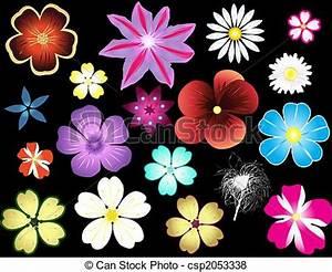 Banco de imagens de diferente, flores, tipos - diferente ...