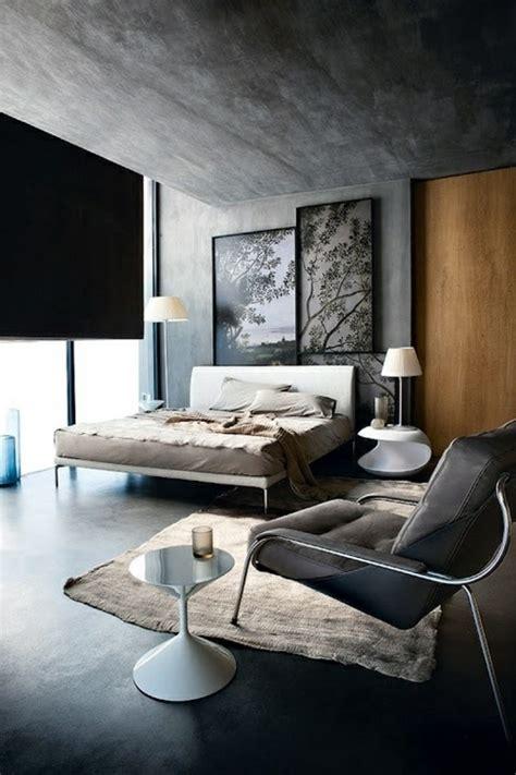 chambre a coucher gris et noir le gris anthracite en 45 photos d 39 intérieur
