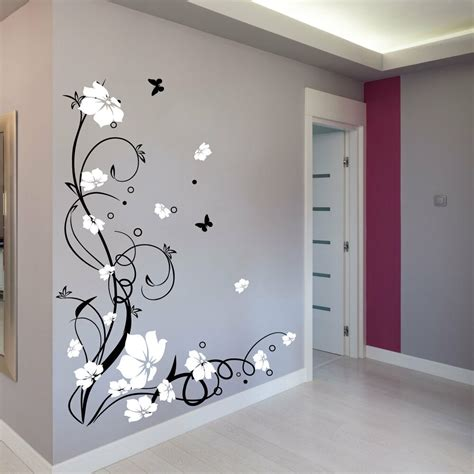 wall decoration stickers large butterfly vine flower wall stickers wall decals ebay