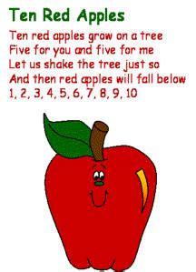 ten apples 893 | poetry 10 red apples