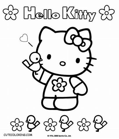 Coloring Kitty Hello Pages Colouring Hellokitty Printable
