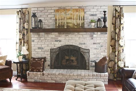 whitewash brick fireplace what should i paint this living room fireplace
