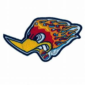 Woody Woodpecker smoking cigar Flaming Race Patch