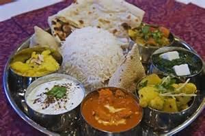 Traditional Indian Food Thali