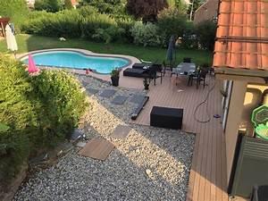 Piscine Avec Terrasse Bois : entourage piscine en bois composite avec terrasse as menuiserie ~ Nature-et-papiers.com Idées de Décoration