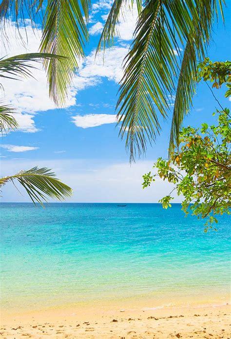 sea beach photo backdrop summer  tropical backdrop