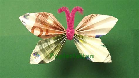 Geldgeschenke Basteln, Geldscheine Falten