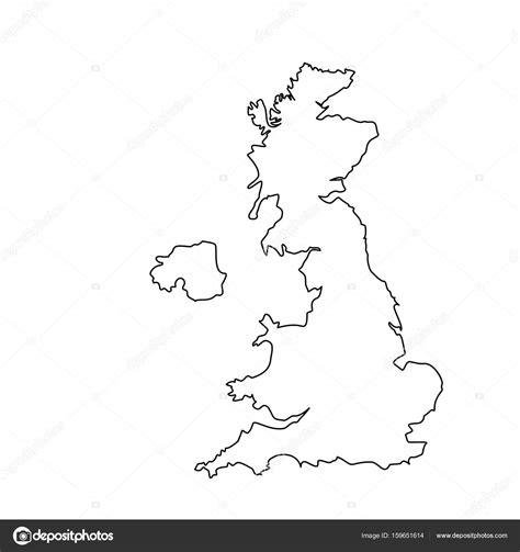 verenigd koninkrijk kaart overzicht stockfoto