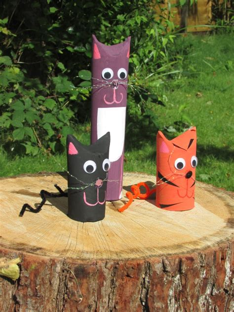 toilet roll cats craft ideas  kids