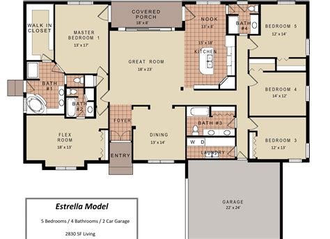 3 Bedroom House Floor Plans by Modern House Plans 3 Bedroom Floor Plan With Garage Small