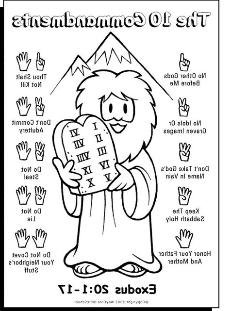 ten commandments coloring picture hd coloringtopiacom bible lessons  kids bible school