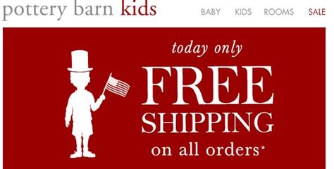 pottery barn orders pottery barn free shipping on all orders today only