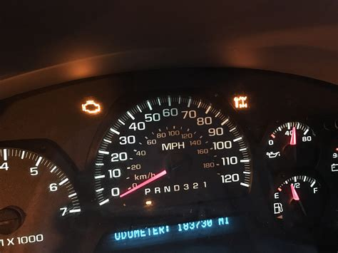 Chevy Trailblazer Check Engine Light With Arrow