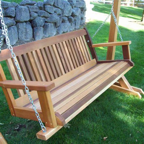 person natural cedar wood outdoor swings patio seating
