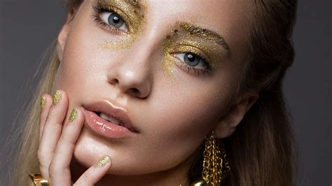 To Makeup by Festival Makeup Spotlight How To Do Glitter Brows L