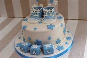 Boy's Baby Shower cake with cupcakes - Bakealous