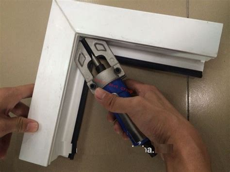 upvc window manual corner cleaner tool frame making machinery