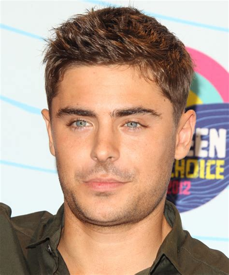 Zac Efron Short Straight Casual Hairstyle (Caramel)
