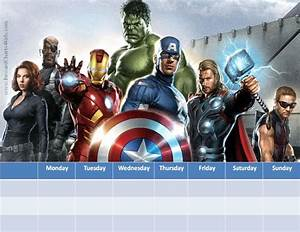 Potty Chart Marvel Avengers Charts Customizable Printable Free