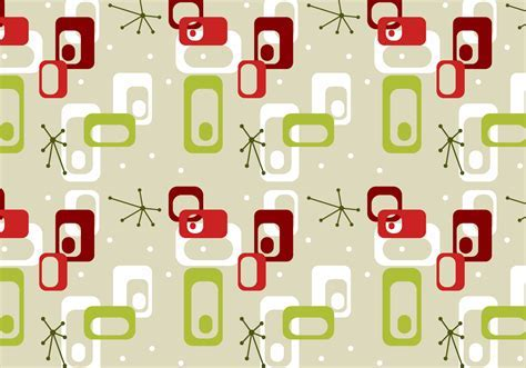 Free Mid Century Vector Pattern #3   Download Free Vector