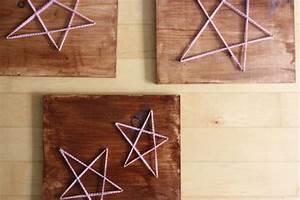 Lavoretti fai da te di Natale: le stelle con filo chiodi