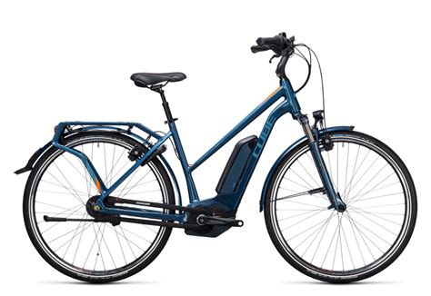 trekking e bike damen cube travel hybrid pro 500 damen trekking pedelec e bike fahrrad blau orange 2017 top