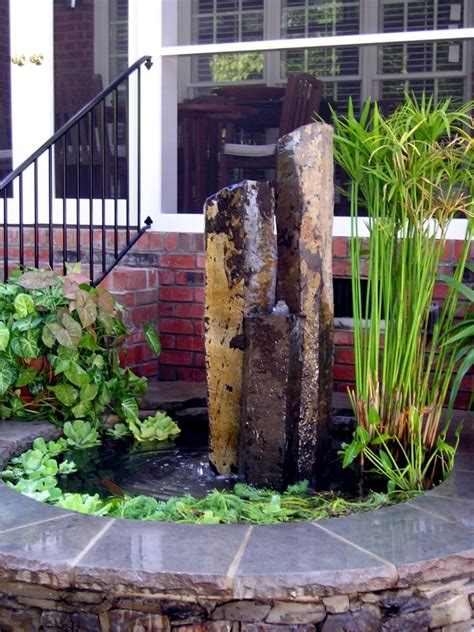 How To Lay Decking On Soil by Garden Stone Fountain 25 Ideas For Decorative Fountains