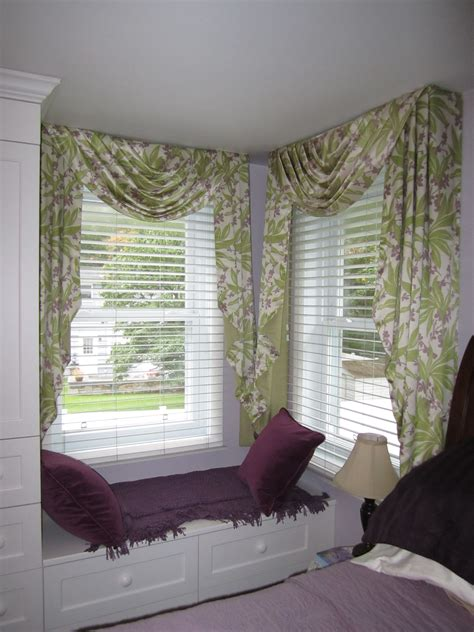 Swag Valances Window Treatments by Traditional Swag Jabot Treatment On Corner Windows