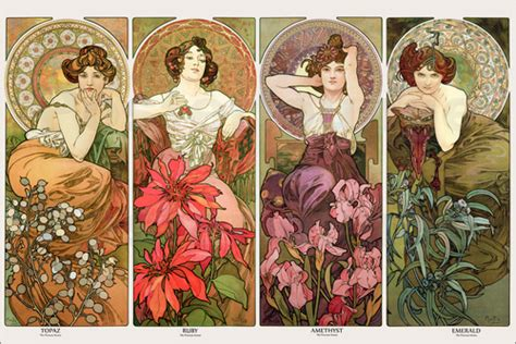 dining room sets alfons mucha the precious stones poster posterlounge