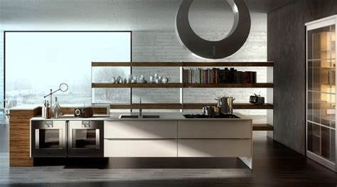 Karakoy Loft Uses Rich Wood Features And Creative Industrial Elements : New Age Contemporary Kitchens