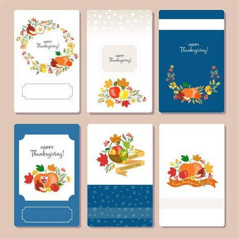 thanksgiving card set  images card templates