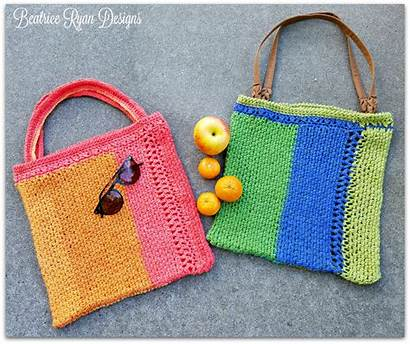 Bag Tote Crochet Pattern Stripe Patterns Market