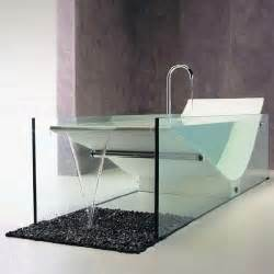Glass Bathtub by Chaise Lounge Bathtubs Modern Bathtub