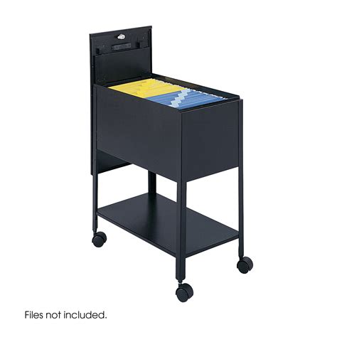 Tub Files mobile tub file with lock letter size safco