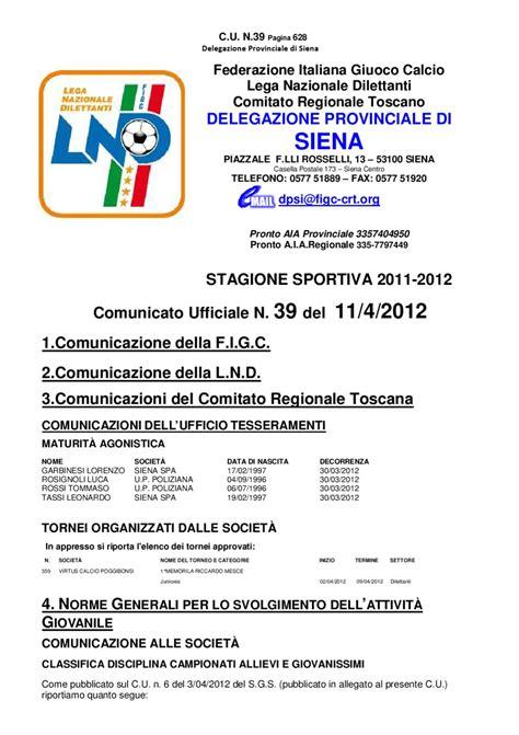 Ufficio Tesseramenti Figc by Comunicato Figc Siena N 39 By Commercializzando Toscana