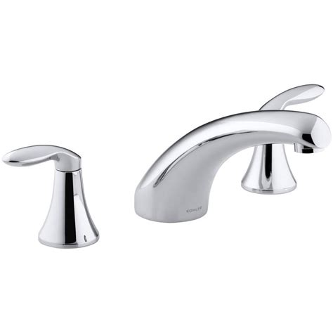 kohler coralais widespread low arc bathroom faucet chrome