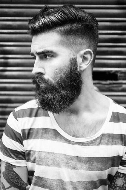 undercut  beard haircut  men  manly hairstyles
