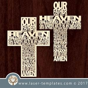 laser cut word cross template download vector pattern With laser engraver templates