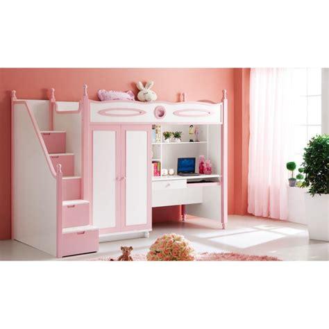 lit avec bureau pour fille lit en mezzanine salut finlande