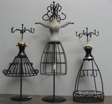 black metal jewelry holder bustier dress form silver organizer gift decor ebay
