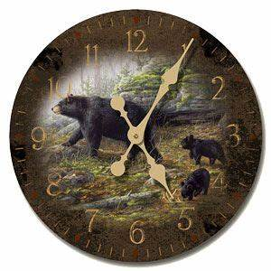 Keeping Watch Wood Wall Clock Home Accents Pinterest