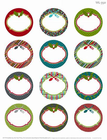 Labels Printable Christmas Label Round Homemade Templates