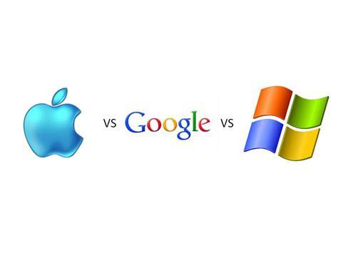 case study  apple google  microsoft battle
