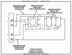 Homelite Ps905000 Powerstroke 5 000 Watt Generator Parts Diagram For Wiring Diagram