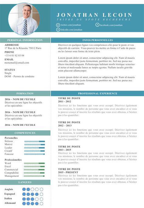 Modele Cv Cadre Gratuit cv cadre directeur d entreprise resume design