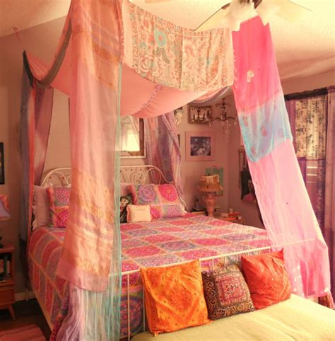 Boho Bed Canopy by Bohemian Bed Canopy By Babylonsisters On Etsy