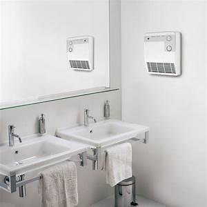 Radiateur soufflant salle de bain fixe électrique AURORA Sbe60 2000 W Leroy Merlin
