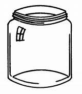 Jar Coloring Jam Template Glass Sheets Templates sketch template