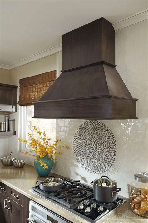wood hood square kitchen craft cabinetry