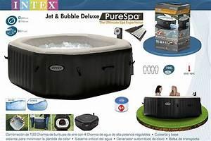 Spa Gonflable Intex Pure Spa Jets Et Bulles 6 Places : spa gonflable intex pure spa octogonal 4 places bulles ~ Melissatoandfro.com Idées de Décoration